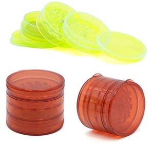 all'ingrosso smerigliatrice 60 millimetri 5layer dell'erba smerigliatrice di plastica per fumare denti di plastica adatta smerigliatrici fumatori per l'acqua bong accessori per il fumo