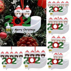 Christmas Ornament DIY Greetings Quarantine Christmas Birthday Party Pandemic Social Distancing Christmas Tree Pendant Accessories GWA1480