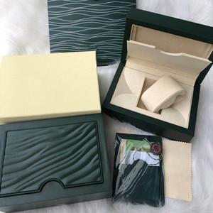 남성의 경우 롤렉스 시계 나무 상자 원래 내부 외부 여자의 시계 상자 종이 선물 가방 남성 손목 시계는 autoamtic 움직임을 상자