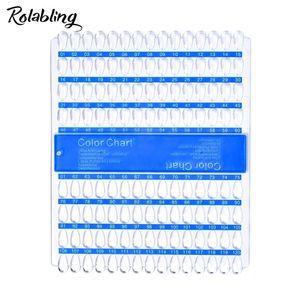 Rolabling 120 Tips Nail Art Display Claro Falso puntas de las uñas de acrílico de color Práctica Placa falso Junta tarjeta de UV polaco