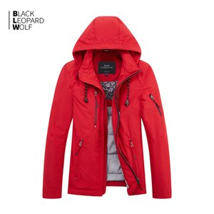 kukuleta ile ceket erkekler kalın pamuklu kaliteli nedensel parkas kış ceket aşağı Blackleopardwolf yeni varış MC-81063 200919