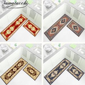 Fuwatacchi Floral Picture Kitchen Mat Parlor Bath Carpet Home Entrance Doormat Tapete Living Room Floor Mats Kitchen Carpets New