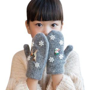 Christmas Baby Gloves Autumn Winter Children Warm Gloves Kid Boys Girls Soft Snowflake Stripe Mittens Baby Accessories w