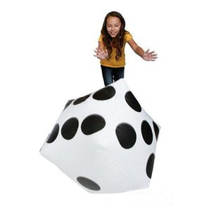 Kinder Spielzeug aufblasbare Tweezers 28cm Jumbo große aufblasbare Würfel Dot Diagonal Riesen Spielzeug-Partei Air # 518