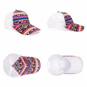 Beyzbol Caps Dil Güneş Şapkası Spor Hip Hop Parti Şapka Açık Cap GWC2252 Duck Renk Çizgili Net Şapkalar Pamuk Trucker Cap yazdır leopard