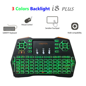 i8 Plus Backlight Air Mouse Newest Wireless Mini Keyboard with Touchpad Backlit Remote Control for X96 Mini MXQ Pro A95X Android TV Box PC
