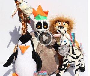 Madagascar Alex Marty Melman Gloria brinquedos de pelúcia do leão zebra do macaco do girafa Pinguim hipopótamo brinquedos macios 25cm 6pcs / lot