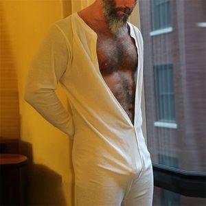 Sous-vêtements stretch Leotard Pyjama confortable et doux vêtements de nuit sexy Hommes Bodysuit Bodysuit Jockstrap Butt ouvert Pyjama Slips d'homme YJL55
