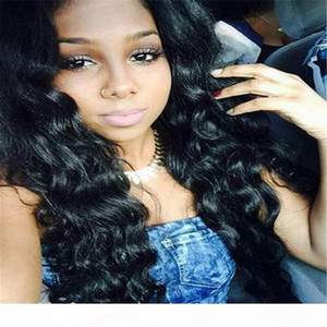 Silk Top Loose Body Wave Full Lace Wigs Brazilian Human Hair Silk Base Wavy Lace Front Wigs Bleached Knots Natural Hairline