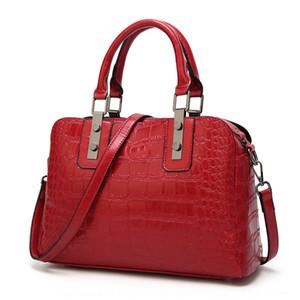 Kadınların moda timsah desen omuz haberci kabuk Bowler çanta çanta El bagbag 0rq3Q için yeni banliyö eli