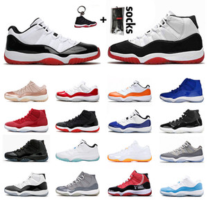 scarpe air jordan 11 2020 LOW WMNS CONCORD retro 11 jordans 11s New scarpe da uomo donna XI 2019 Bred High Jumpman 23 Cap and Gown Space Jam Sneakers  Mens Womens Basketball Shoes
