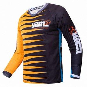 быстрый трикотаж мотоциклетного сухой мотокросса Длинные рукава Велоспорт верхняя голова рубашка MTB износ сублимированный одежды dUq6 #