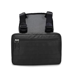 Männer Taktische Brusttasche Männer Multifunktionale Tasche Hip-Hop Nylon ID Handytasche Zipper Beutel