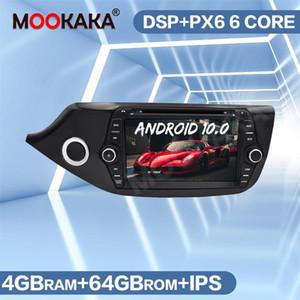 La radio de coche radio del GPS Navigation registrador de cinta para KIA CEED 2013-2020 Android 10,0 Unidad PX6 Cabeza de reproductor multimedia de audio DSP Auto DVD del coche