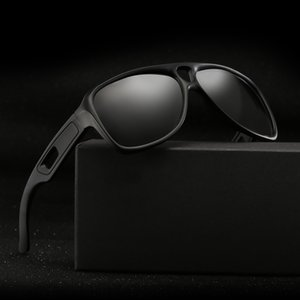 Hjyfino Siyah Güneş Gözlüğü Erkekler için Polaroid Güneş Gözlüğü Erkekler Çerçeve Erkek Kare Gözlük Sürüş Marka Polarize Güneş Gözlükleri Balıkçılık Fnnu