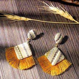 European and American fashion creative classic Tassel Earrings retro national style female Earrings manufacturers wholesale