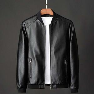 Veste en cuir véritable motocyclette Manteau d'hiver de Mode pour hommes Réchauffez Vestes en cuir véritable Taille Grande