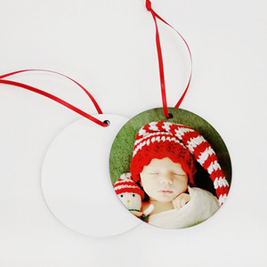 80MM Round Sublimation Ornament for Christmas Blank Wood Ornaments Double Sided Can be Printed Home Christmas Decorations Party Supplies