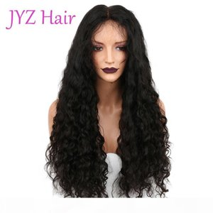 Natural Color Brazilian Indian Peruvian Malaysian Full Lace Hair Wigs 130% Density Deep Wave Lace Front Human Hair Wigs For Black Women