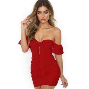 Dress Summer Open Back Slash Neck Low-cut Strap Designer Clothing Party Sexy Fresh Sweet Party Dresses Womens