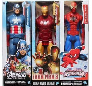 Newset Avengers 30cm PVC Action Figures Marvel Heros The thor Iron Man Spiderman Captain America Ultron Wolverine Figure Toys gift