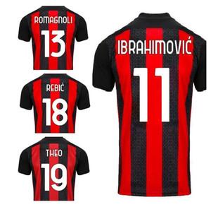 Customizadas 20-21 11 IBRAHIMOVIC tailandeses Qualidade de Futebol 56 SAELEMAEKERS camisas personalizadas 79 Kessie 3 MALDINI 4 Bennacer 7 S.CASTILLEJO
