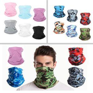 Güneş UV Koruyucu Yüz Boyun tozluk Windproof Eşarp Güneş kremi Nefes Bandana İçin Spor Açık Kamuflaj Başörtüsü Parti HH9-3321 Maske Maskesi