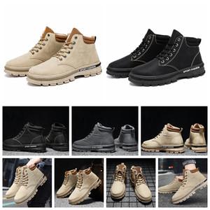 2020 Fashion Man Мартин сапоги повседневная обувь кроссовки кожаные ботинки короткие осенние зимы лодыжки моды Человек сапоги Мартин Роман Cowboy Eu: 39-44