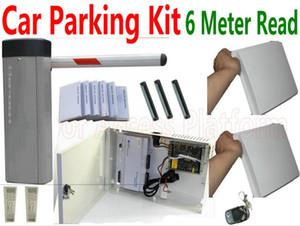 Cinza Cor Car Barrier gate Car Entrada + saída automática de tag 0- 6 metros UHF distância de leitura Card + ABS + do Windows Stickers