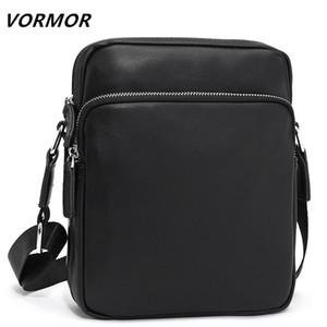 VORMOR Famous Brand Leather Men Bag Casual Business Messenger Bag For Vintage Mens Crossbody Bag Male Shoulder Bags bolsas