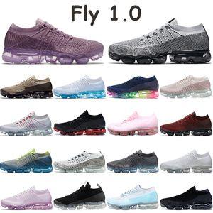 Tejer 1.0 zapatos corrientes de los hombres mosca de las mujeres zapatillas de deporte para hombre de polvo puro formadores de triple platino violeta claro negro blanco rosado óxido oreo deportivos