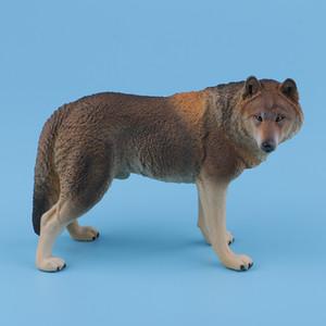 Big Wolf Simülasyon Hayvan Modeli Eylem Oyuncak Çocuk Hediyesi için Eğitim Figures