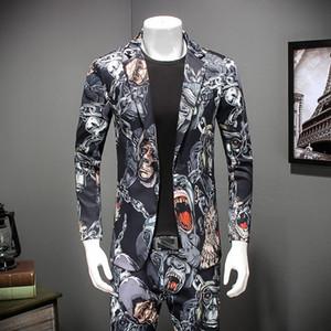 Casual 2020 Slim Fit Hommes Un seul bouton Costume Blazer Epoux mariage costume de bal formelle Vestes homme Robe M-4XL # 871