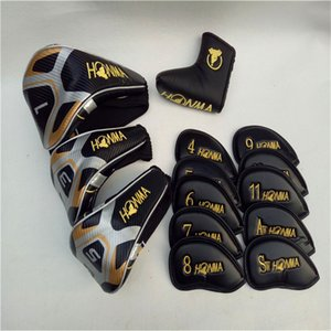 Honma Golf Clubs Head Cover Set completo Golf Golf Copricapo Driver Legno Irons Puttter Club Copricapo Free Shiping