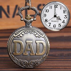 Papá Pocket Watch Fathers Day Cumpleaños MEJOR REGALO FOB PENDIENTE RELOJ DADDIE LO AMO LOS RELACIONES PARA FOREVERSE RELOCIRE BRONCE SLIVER FLIP CASE COLECTION RELOJ
