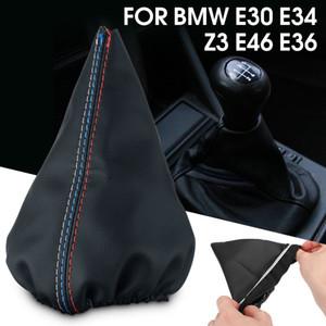 Gear Shift Knob Boot Gear Lever Gaiter Cover PU Leather For BMW E30 E34 Z3 E46 E36