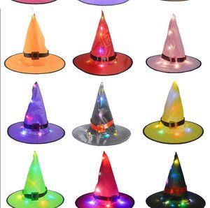 cappelli firmati cappelli di Halloween incandescente Witch Hat ornamenti vacanza promenade del partito di cappello da mago di Natale Cappelli Adult Light Festival
