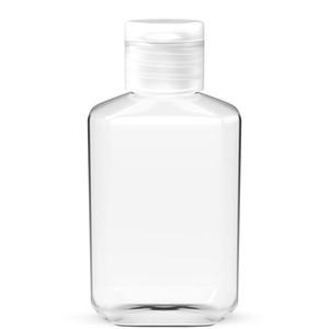 60 ملليلتر فارغة اليد المطهر هلام زجاجة اليد صابون سائل زجاجة واضحة ضغط الحيوانات الأليفة الفرعية السفر زجاجة البحر الشحن OWE3029