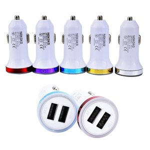 Car Charger Dual Usb ports 2.1A+1A Rocket Style Led Light Car charger adapter for iphone 5 6 7 for samsung mp3 gps
