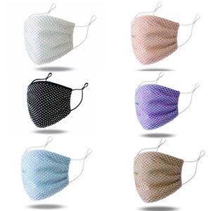 Bunte Mesh-Masken Bling Diamant-Partei Maske Strass Grid Net Maske Waschbar Sexy hohle Schablone für Frauen BWB1905