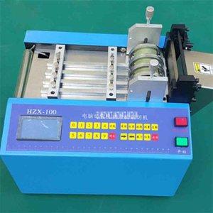 New Hot HZX-100 Бортовой компьютер Автоматическая трубы для резки термоусадочной трубки PE Шланг для резки Машина 110V / 220V 350W 0-100MM