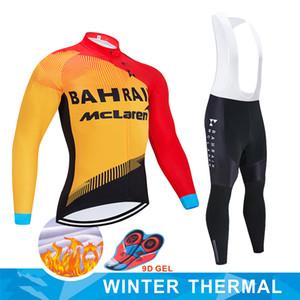 Hiver Cyclisme Jersey Set 2020 Pro Team BAHREÏN vétement Cyclisme Toison Ropa Ciclismo Invierno VTT jersey vélo dossard kit pantalon