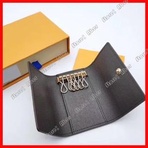 도매 키 홀더 열쇠 고리 지갑 남성 최고 품질 여러 가지 빛깔의 가죽 지갑 레이디 여섯 키 홀더 여성 남성 클래식 지퍼 포켓 키 체인