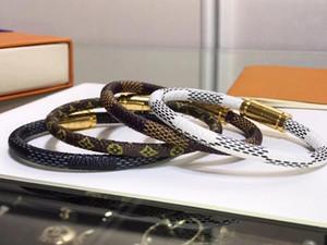 19cm Liebe Mode Louis-Leder-Armbänder halten für Männer Louis Vuitton monogram Frau Designers Paare V Sperre Armband Blume es Muster Armband Schmuck Gv8o #