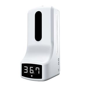 2 in 1 Misurazione automatica della temperatura K9 Termometro a infrarossi Disinfezione Mano Sanitzier Dispenser Sapone Digitale Touchless