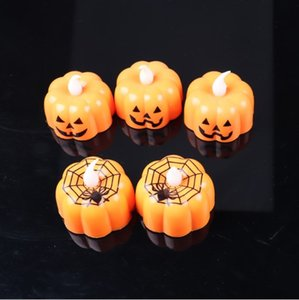 New Pumpkin Candle Lights Halloween Decoration Lights Warm White Halloween Home Decoration