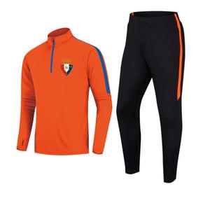 CA Osasuna F.C Courir Survêtement Football Veste Homme Loisirs Formation Costumes de jogging en plein air Vêtements de sport Randonnée Porter