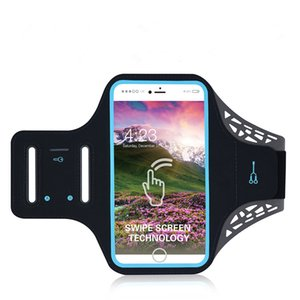 Universal Outdoor Sports Mobile Phone Armband Case Gym Running Phone Bag Arm Band For 4.7 5.5inch Smartphone ID Touch Waterproof