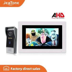 4 Wired 720P / AHD 7 '' Video Detecção de voz porteiro Intercom Campainhas Access Control Kits Message System / Movimento / MP4 Player
