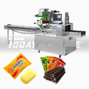 Makine Fırın Akış Paketi Paketleme Makinası Makinesi / yatay Ambalaj Yatay / Yatay Kore Pirinç Gıda Ambalajlarının Ekmek Yastık Paketleme